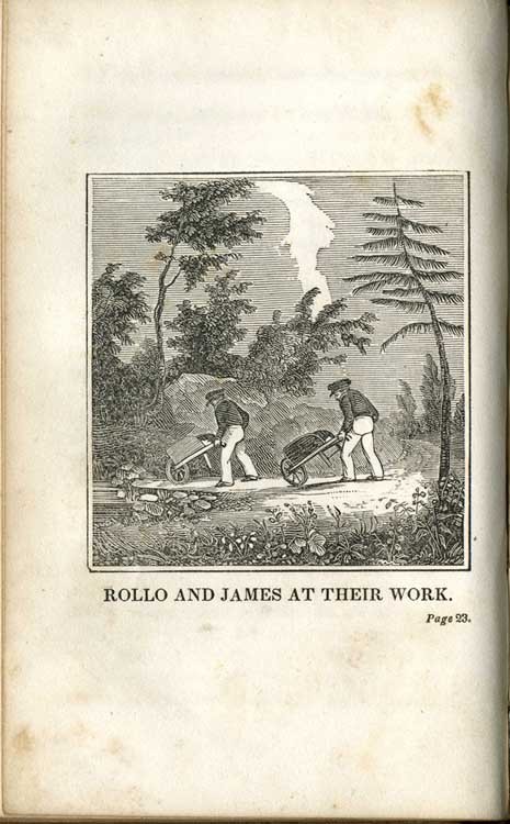 Jacob Abbott, Rollo at Work, or, The Way for a Boy To Learn To Be Industrious. Boston: T. H. Carter, 1838.
