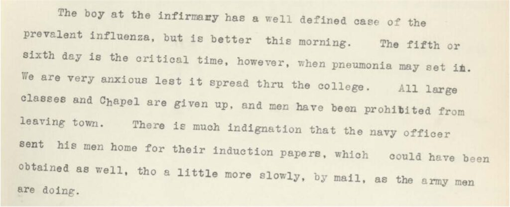Excerpt from Cram 1918 Diary